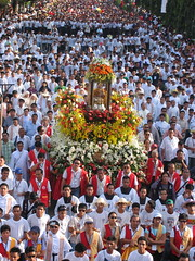 sinulog 2006 - approaching sto. nio (adlaw) Tags: sinulog sinulog2006 procession stonino festival cebu cebucity philippines colors tradition culture religion faith catholic