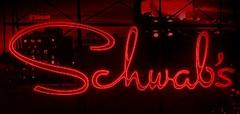 Schwab's Drugs, recreated neon sign
