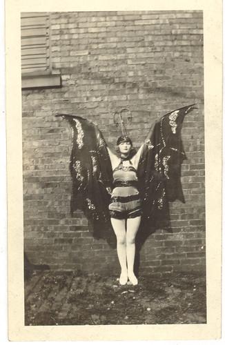 Portrait of Pixie Herbert in a bat costume ca. 1923 | Bat costume Pixies and Bats & Portrait of Pixie Herbert in a bat costume ca. 1923 | Bat costume ...