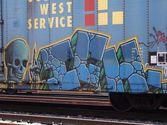 Ich, jefferson city, mo (Jay Pelzer) Tags: skull graffiti ich freight boxcars ichabod goldenwest