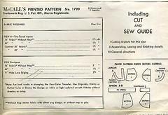 mccalls apron 1799, back (carbonated) Tags: vintage apron vintageaprons sewingpatterns mccalls