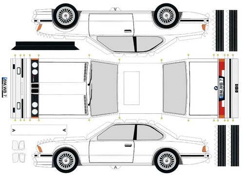 Papercraft Cars Template Papercraft Templates Cars Bmw