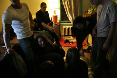 eviction party (sgoralnick) Tags: party bedroom strangers twister whatev evictionparty