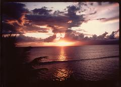 Ka'anapali Sunset, Maui, 1984 (roddh) Tags: sunset film hawaii slide maui 1984 kaanapali roddh