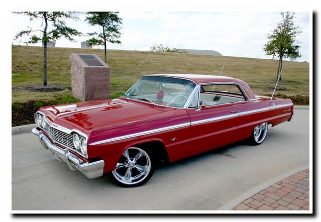 red classic chevy impala lowrider impalass 1964impala
