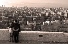 Love over Cairo (solilos) Tags: love sepia egypt loveit cairo youngcouple azhargardens