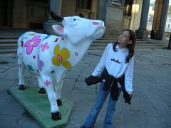 Dscn2136 (fzzzzzzz) Tags: firenze uffizi mucca cowparade