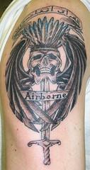 arabic airborne (whodunit74) Tags: tattoo skull wings tattoos airborne wingedskull