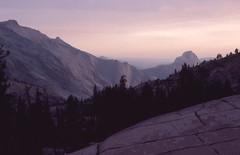 Yosemite from Olmsted Point, Tioga Pass (wanderingnome) Tags: california pentax slide yosemitenationalpark sierras scannedimages mesuper bestgeneralview theworldthroughmyeyes thebiggestgroup ©wanderingnomez