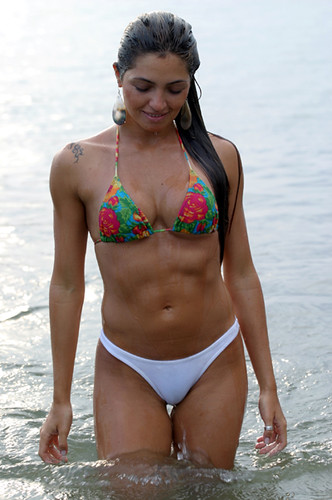 Brazilian Latina woman in bikini