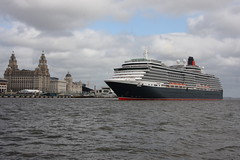 Farewell Liverpool (petermarsh91) Tags: cruise building liverpool river victoria queen liver cunard mersey liner