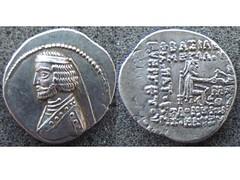 Phraates III drachm (Baltimore Bob) Tags: money silver persian coin coins persia nisa turkmenistan parthian parthia drachm arsacid arsakid mithradatkart
