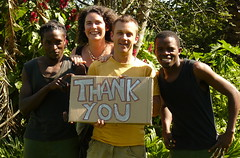 The Guba team thanking our supporters, 2010