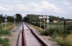 Lanaken-Maastricht, grens in 2010 (Ahrend01) Tags: ns 20 infra lanaken grens lijn nmbs prorail heraanleg heropening baanvaksnelheid
