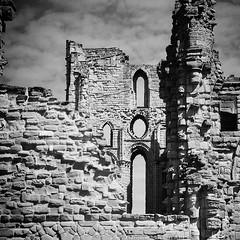 Through The Ruins (cazphoto.co.uk) Tags: slr architecture ruin vintagecamera tynemouthpriory singlelensreflex 120rollfilm agilux agiflex agiluxanastigmat80mmf35