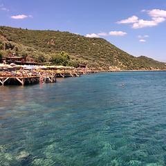 Turquoise Assos (halbag) Tags: life blue sea vacation sky holiday green beach nature water port swim turkey landscape turquoise assos behramkale