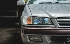 Toyota Corona Premio (Aadil Chouji Schiffer) Tags: auto blue light cars car closeup japanese lights headlights vehicles corona toyota vehicle lamps jdm headlamps premio    at212   at210 automobuile at211