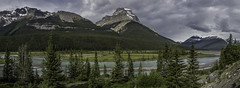 Mount Amery (Philip Scott Johnson) Tags: alberta banff albertacanada northsaskatchewanriver banffnationalpark icefieldsparkway icefieldparkway mtamery saskatchewanrivervalley mountamery
