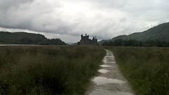 Kilchurn Castle on the bank of Loch Awe, Scotland (helenoftheways) Tags: kilchurncastle lochawe argyll scotland path bog silhouette sky green ruins