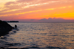 By Sunset (Jeff (Matt) Zhang Photography (MZP)) Tags: light sunset summer sky people sun lake ontario beach nature canon project walking photography eos evening natural scenic lifestyle tourist niagara setting attraction sunsetting t3i 600d mzp naturistic