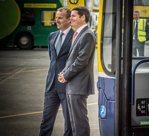 90 NEW BUSES FOR DUBLIN CITY [Paschal Donohoe Nearest to The Camera] REF-106972