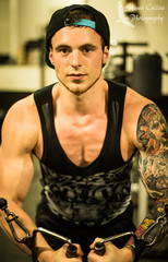 Gym Shoot w/ T.G. (Shawn Collins Photography) Tags: shirtless hairy men muscles hat tattoo beard photography model photoshoot arms modeling masculine muscle muscular chest strength bodybuilder workout gym abs sleeve built malemodel scruff physique gyms tats workingout gymshoot