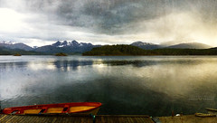 stillness (silviaON) Tags: norway landscape boat textured f15 flypaper memoriesbook magicunicornverybest