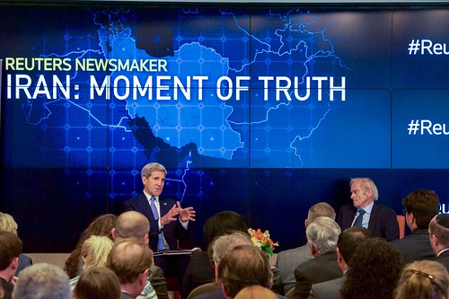 Secretary Kerry Speaks With Thomson Reuters Editor-at-Large Evans and Audience in New York About Iranian Nuclear Deal