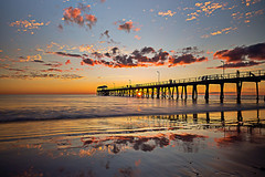Peaking Through (A Durst Photo) Tags: ocean sunset sky reflection beach nature water clouds landscape photography coast day place time outdoor jetty south au country australia land type geography effect southaustralia henley henleybeach archtiecture timeofday 500px typeofphotography ifttt