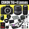 Canon EOS Rebel T4i 18 MP CMOS Digital SLR Camera w/EF-S 18-55mm f/3.5-5.6 IS Lens + EF 75-300mm f/4-5.6 III Telephoto Zoom Lens + LP-E8 Replacement Lithium Ion Battery w/External Rapid Charger + 16GB SDHC Class 10 Memory Card + 58mm Wide Angle Lens + 58m (goodies2get2) Tags: amazoncom bestsellers canon giftideas mostwishedfor