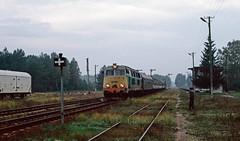SU45-243 at Czerwony Bór. Poland. 12/09/95. (Marra Man) Tags: polskiekolejepaństwowe classsu45 su45243 czerwony b czerwonybór 51743
