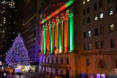 New York Stock Exchange on Wall Street at Night - Manhattan New York City NY (mbell1975) Tags: newyork unitedstates us new york stock exchange wall street night manhattan city ny nyc usa america american evening lights christmastree christmas tree nyse borse boerse börse bolsa bourse borsa beurs