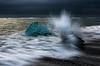 Ice Hit (Marshall Ward) Tags: jökulsárlón iceland ice icebeach icebergs ocean waves winter southcoast marshallward nikond810 afszoomnikkor2470mmf28ged 2017 landscape seascape