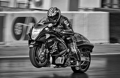 Hope Racing Hyabusa. (bainebiker) Tags: suzukihyabusa turbohyabusa motorcycle dragracing motorcycleracing monochrome panning canonef100400mmf4556lis podington northamptonshire uk canonef100400mmf4556lisiiusm santapodraceway