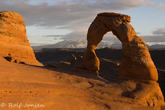Sunset at Delicate Arch (rjonsen) Tags: delicate arch sunset golden hour arches national park archesnationalpark utah evening sun light