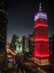 Doha at night (Mohmed Althani) Tags: doha qatar qa color sky skyline red love qatarairways hotel photo flickrportal night photosandcalendar iphone7 water frined outdoor building coffee beach beautiful sunset sun spiritofqatar city tower skyscraper
