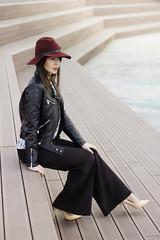 (simunoskimaja) Tags: girl fashion portrait outdoor city autnum beauty red