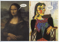 Misguided Masterpieces (Manitoba Museum of Finds Art) Tags: monalisa postcard