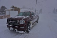 The Scarlet Witch (Wawa Duane) Tags: wawa ontario canada winter gmc chevy truck snow storm warning terrible weather