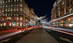 Christmas on Regent Street... (Explored 23/12/2016) (protsalke) Tags: london city urban lights longexposure christmas colors shopping gifts beautiful life night road regent street