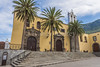 The Catholic Church in Tenerife (Ivanov Andrey) Tags: temple church monastery catholicism christianity religion cross prayer white square wall sign bench stair step sky cloud blue cyan yellow corner pavement stone noon sun shadow summer travel history architecture plaza tenerife spain