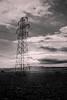 B+W Sun (wonkeyfingers) Tags: canoneos7d black white monochrome sun sunset pillar sky skies field countryside country princes risborough
