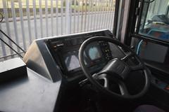 Stagecoach Merseyside 28541 - X271 USH (North West Transport Photos) Tags: gillmoss stagecoach stagecoachmerseysideandsouthlancashire stagecoachmerseyside busdepot scania l94 l94ub scanial94ub wright wrightbus floline wrightaxcessfloline first firstbus drivertrainer businterior interior cab buscab dashboard steeringwheel x271ush 28541 60200
