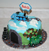 Thomas the Train Themed Birthday Cake