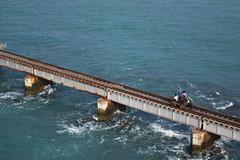 Duty Calls (Debatra) Tags: india rameswaram pamban pambanbridge indianrailways ir irfca railways rail railroad sea water track d3300 1855 1855mm nikon nikkor tamil tamilnadu southernrailway sr mdudivn maduraidivision