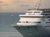 Encounter (Kill yr idols) Tags: cruise crucero ship barco velero sailboat mar sea ocean oceano caribe caribbean water agua horizon horizonte