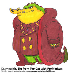 Mr. Big from Top Cat with ProMarkers (drawingtutorials101.com) Tags: mr big top cat topcat animated cartoon tv cartoons promarker promarkers marker alcohol markers hanna barbera color coloring draw drawing drawings how timelapse video speeddrawing