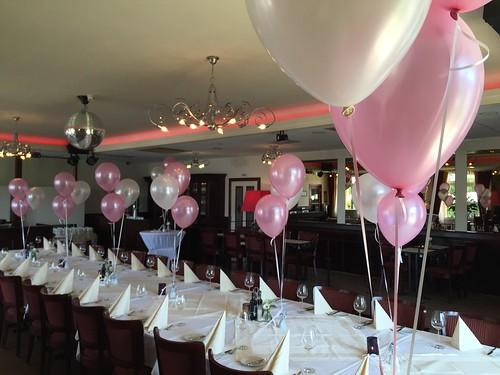 Tafeldecoratie 3ballonnen Huwelijk Citta Romana Hellevoetsluis