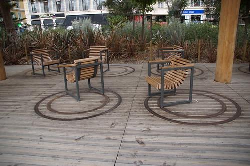 Turning chairs at la prommenade du Pallon