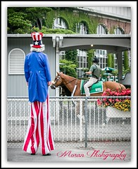 Stars and Stripes Day (EASY GOER) Tags: horses horse ny newyork sports race canon track flag running racing 5d athletes july4th races thoroughbred equine thoroughbreds belmontpark markiii